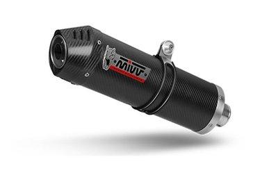 MIVV compleet 2-1 systeem met oval carbon demper met carbon cap Yamaha MT-07 '14-