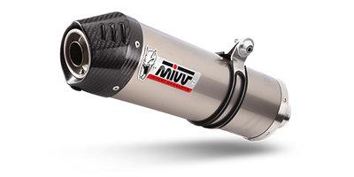 MIVV compleet 2-1 systeem met oval titanium demper met carbon cap Yamaha MT-07 '14-