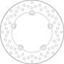 BREMBO REMSCHIJF BRAKE DISC, 68B407L0