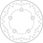 BREMBO REMSCHIJF BRAKE DISC, 68B40750